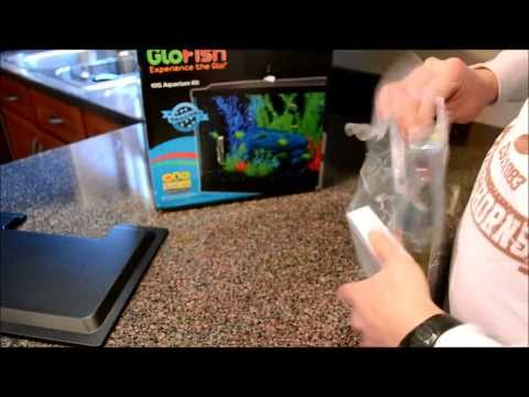 GloFish Aquarium Set Up Part 1 LED Lights
