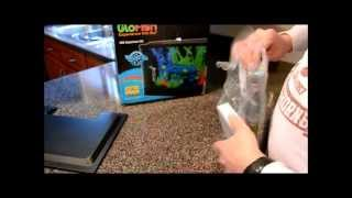 glofish aquarium set up part 1 led lights