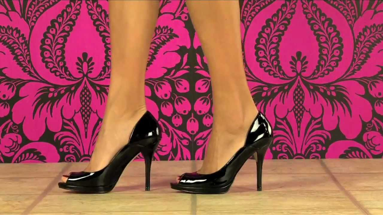 f9672be55bdf Guess Shoes Face Pump in Black Patent - YouTube