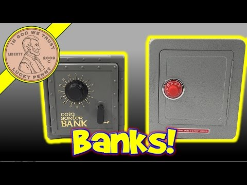 Kids Toy Coin Bank & Safe - British & USA Coin Collection
