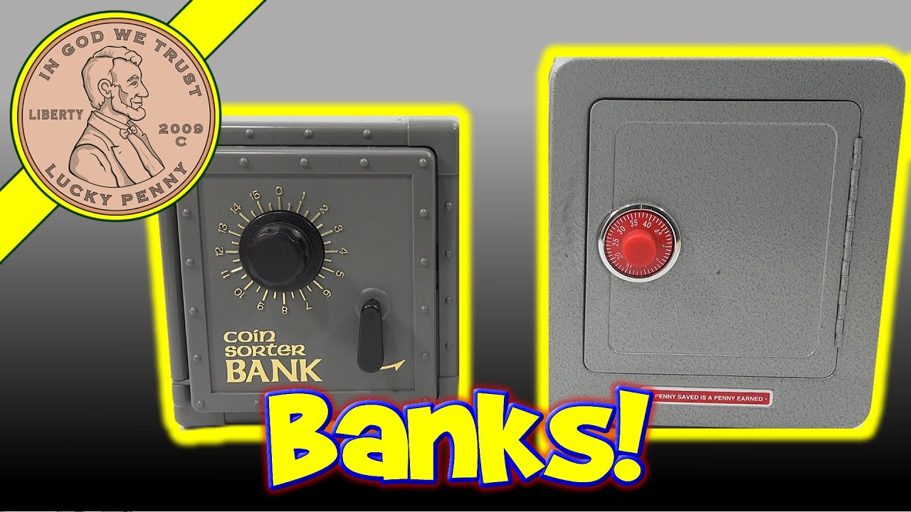 Kids toy coin bank safe british usa coin collection Coin sorting bank for kids