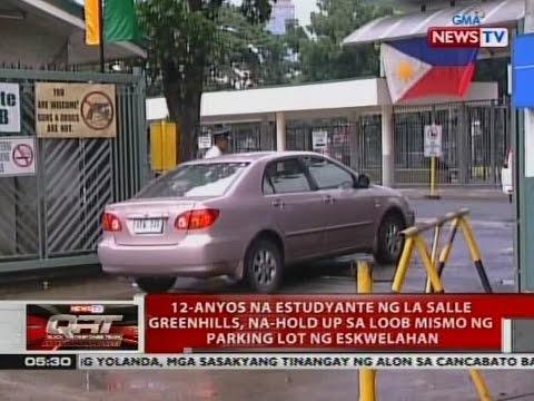 12-anyos na estudyante ng La Salle Greenhills, na-hold up sa loob mismo ng parking lot ng eskwelahan