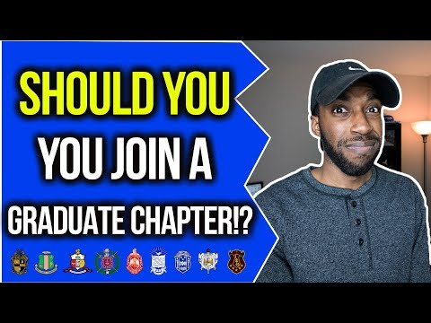 SHOULD YOU JOIN A GRADUATE CHAPTER? | NPHC ADVICE | COREY JONES