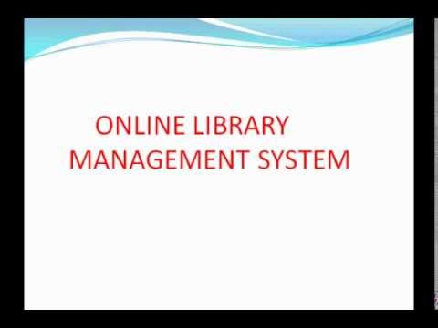 online library management system ppt