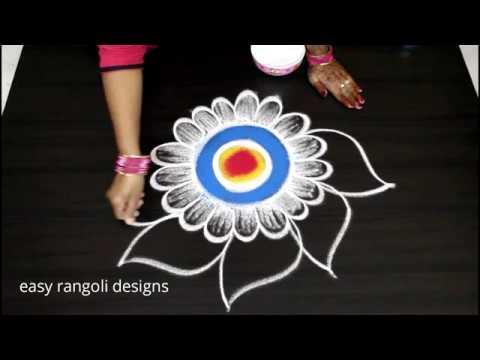 Amazing New year 2019 rangoli and kolam designs Muggulu - YouTube