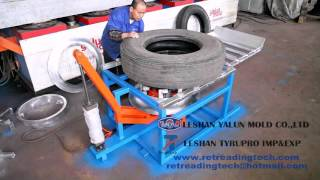 A steel rim loader/ unloader for retreading truck/ bus tires(This video shows the appearance of a steel rim loader/ unloader for retreading truck/ bus tires ( precured retreading). The function of this machine is to load ..., 2016-04-28T15:11:53.000Z)