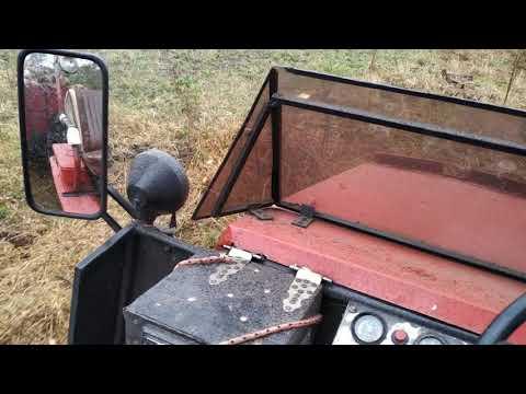Саморобний трактор Иванович, перевезення рубаних дров, тандемом
