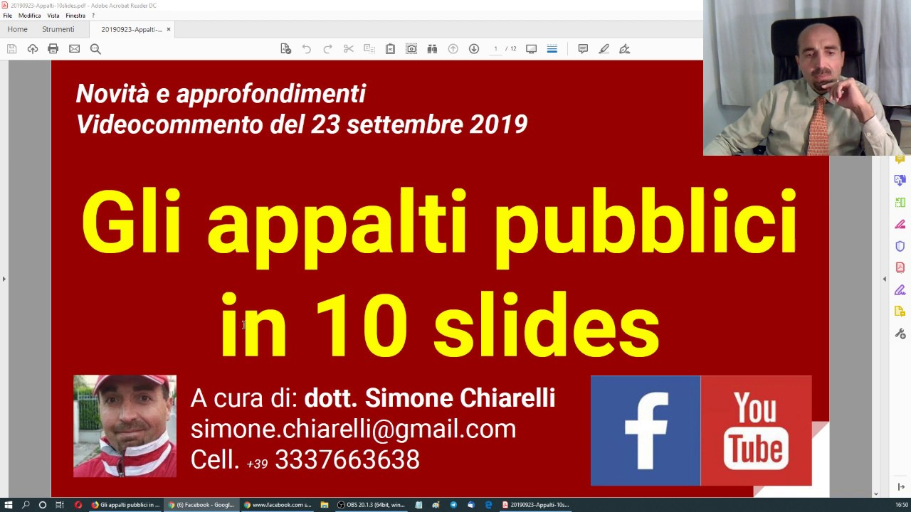 Gli Appalti Pubblici In 10 Slides 23 9 2019 Youtube