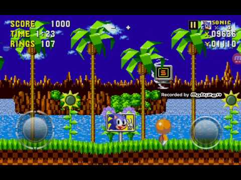 Sonic Android And IOS Debug Mode Code And Supersonic Code Sonic 1 First Level Gameplay Read Descript