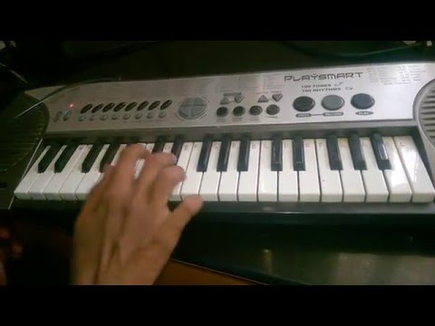 James Bond theme song in keyboard with notes