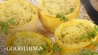 Good Things: Roasted Spaghetti Squash With Parmesan - Martha Stewart