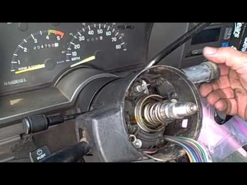 93 Chevy 4x4 Steering Column Tilt Repair on
