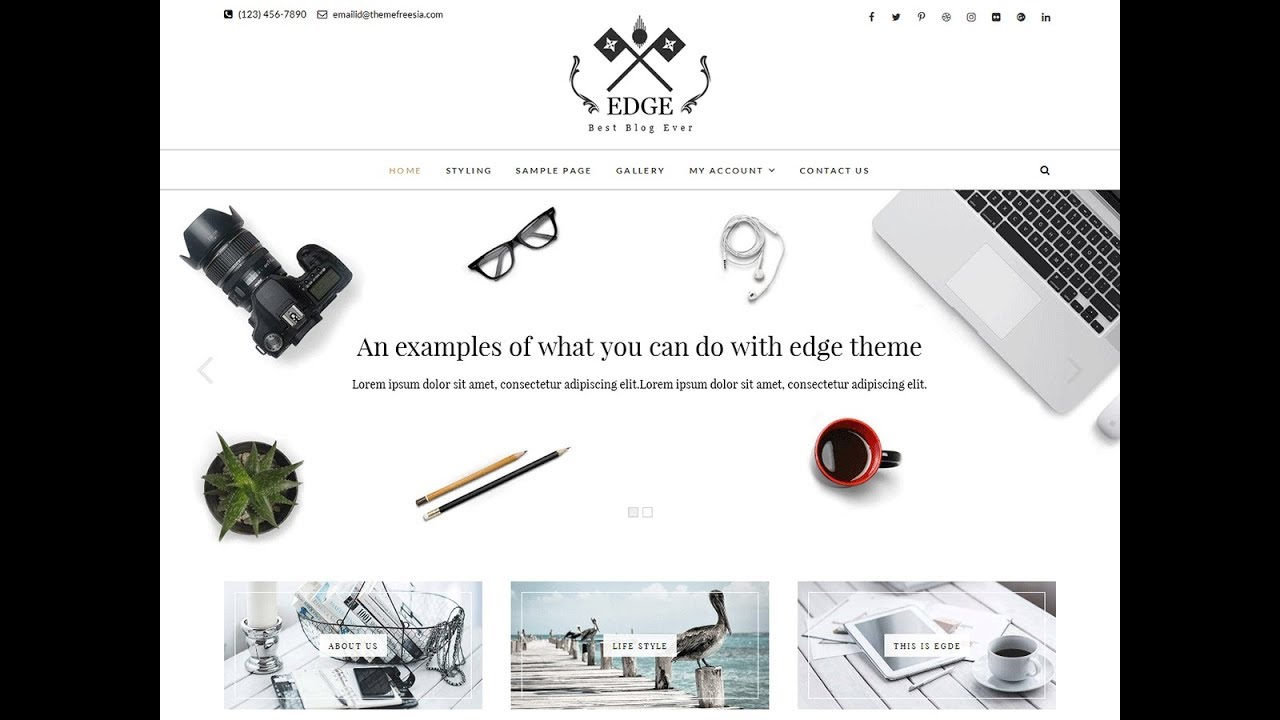 Edge is the Best Responsive Free WordPress Themes by Theme