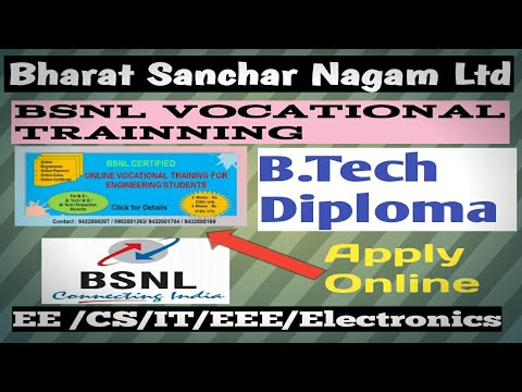 bsnl-vocational-training-certificate-2020|-be/-b.-tech/-diploma-|-how-apply?