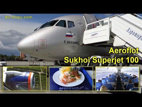 Aeroflot Sukhoi Superjet SSJ-100-95 Business Class Archangelsk-Moscow [AirClips full flight series]