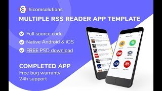 News RSS Collection Mobile App Template, Script, Source Code for Sale