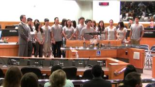 Musical invocation by Firebird Youth Chinese Orchestra in The County of Santa Clara, California