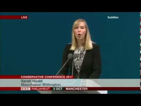 Sarah Heald Conservative Party Conference 2017 Industrial Strategy