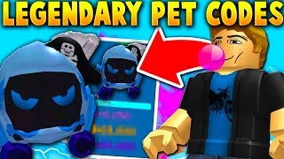 I USED THE LEGENDARY PET CODES AS A NOOB!! *SUPER OP!*- Roblox Bubble Gum Simulator