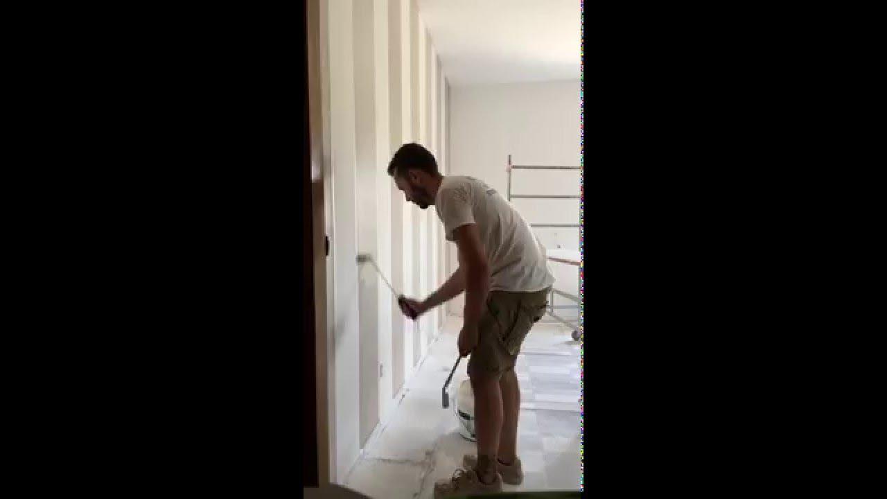 Dipingere Muri A Strisce : Decorazione parete a righe mancini pitture youtube