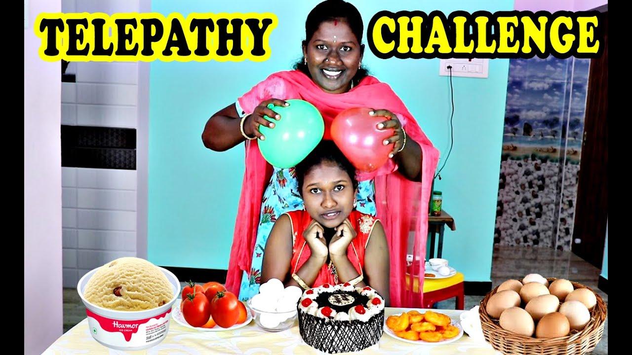 EPIC TELIPATHI CHALLENGE IN TAMIL FOODIES DIVYA VS ANUSHYA / EATING CHALLENGE