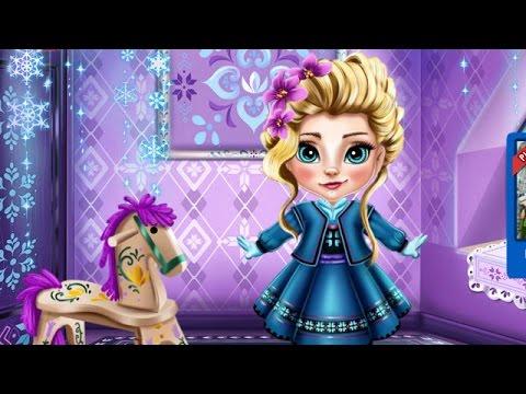 Эльза Frozen Игры—Малышка Эльза Холодное сердце—Онлайн Видео Игры Для Детей Мультфильм 2015