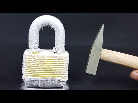 Science Experiment LIQUID NITROGEN vs LOCK