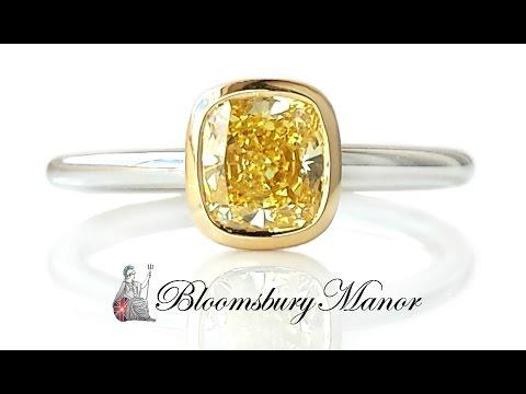 Tiffany & Co. 0.94ct Fancy Yellow Bezet® Diamond Engagement Ring