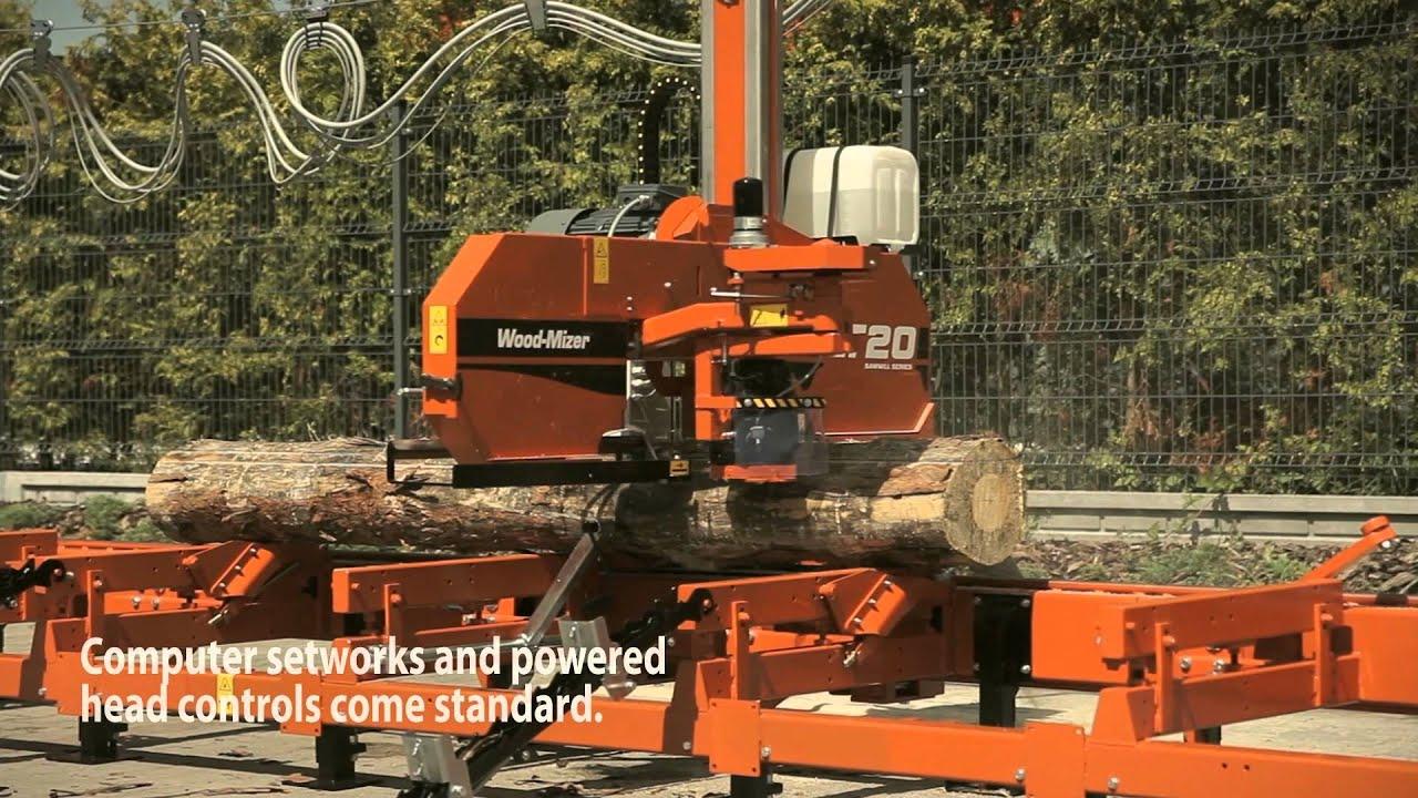 Wood Mizer Lt20b Sawmill Europe Youtube