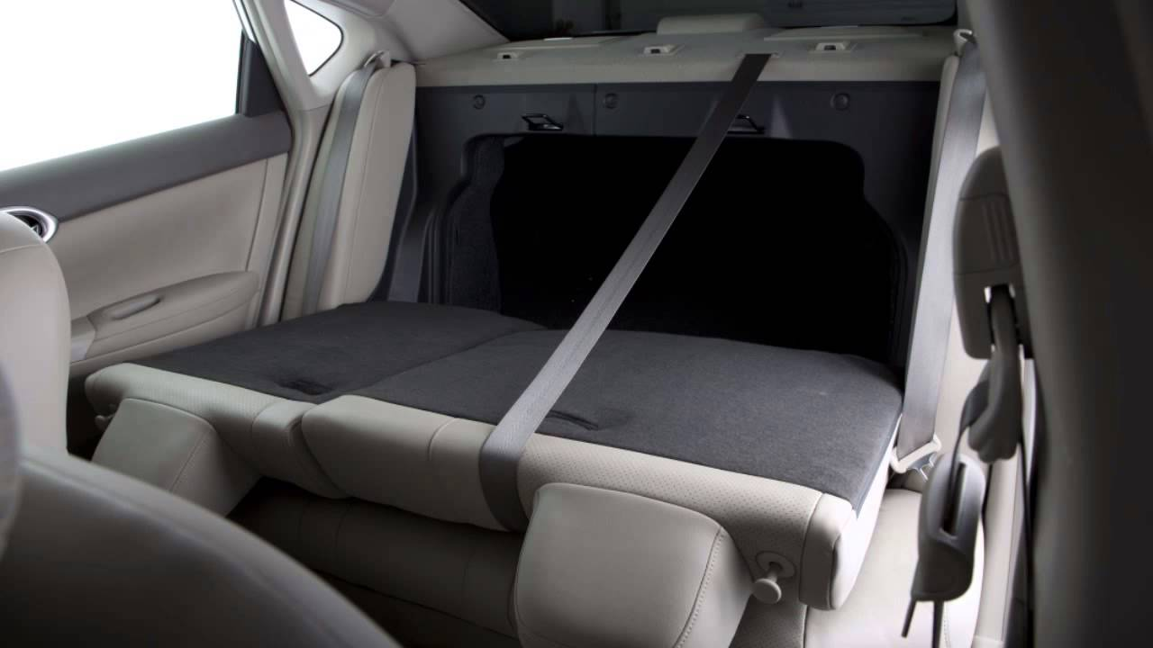 2013 NISSAN Sentra - Folding Down the Rear Seats - YouTube
