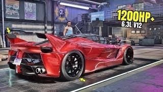 Need for Speed Heat Gameplay - 1200HP+ FERRARI LAFERRARI Customization | Max Build 400+