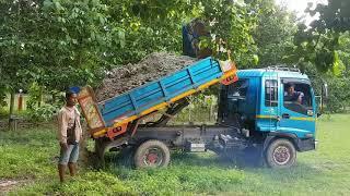 Dump Truck : เทดินบนสนามหญ้าเขียวๆ