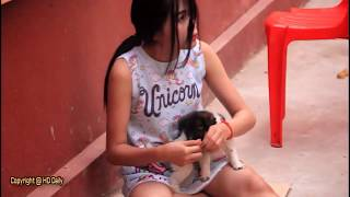 girls dogs #AMAZING BOND. BEAUTIFUL YOUNG GIRL PLAY WITH LITTLE DOGS.