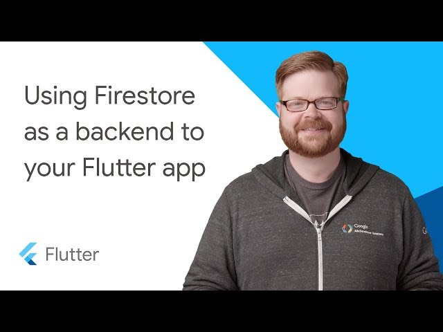 Using Firestore as a backend to your Flutter app