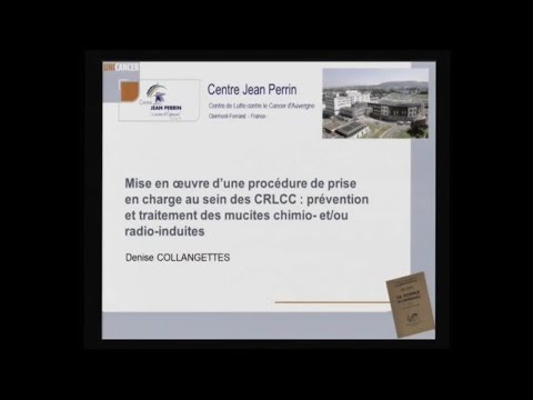 Dr Denise COLLANGETTES : recommandations concernant les soins de bouche lors des mucites (1/2)