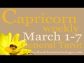 Capricorn March 1-7 2017/Week 1 General Tarot Reading