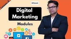 Lesson-2: Digital Marketing Modules (all verticals of Digital Marketing)   Ankur Aggarwal