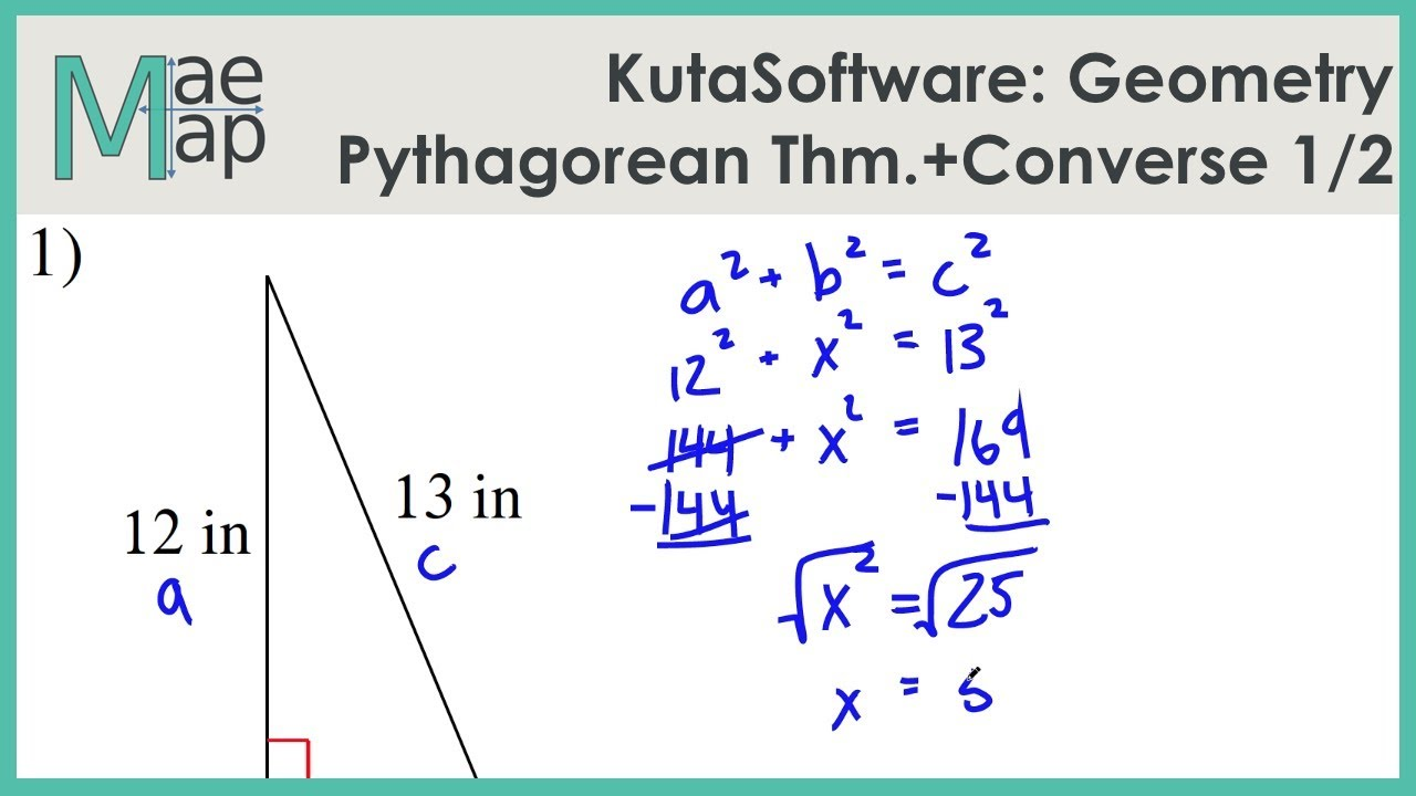 Kutasoftware Geometry The Pythagorean Theorem And Its Converse Part 1 Youtube