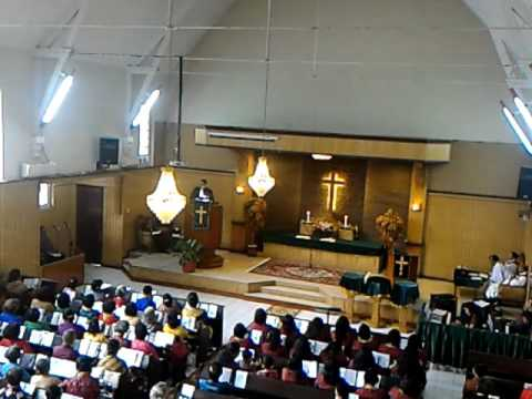 Khotbah Praeses HKBP Distrik X Medan Aceh amang S.P. Sirait