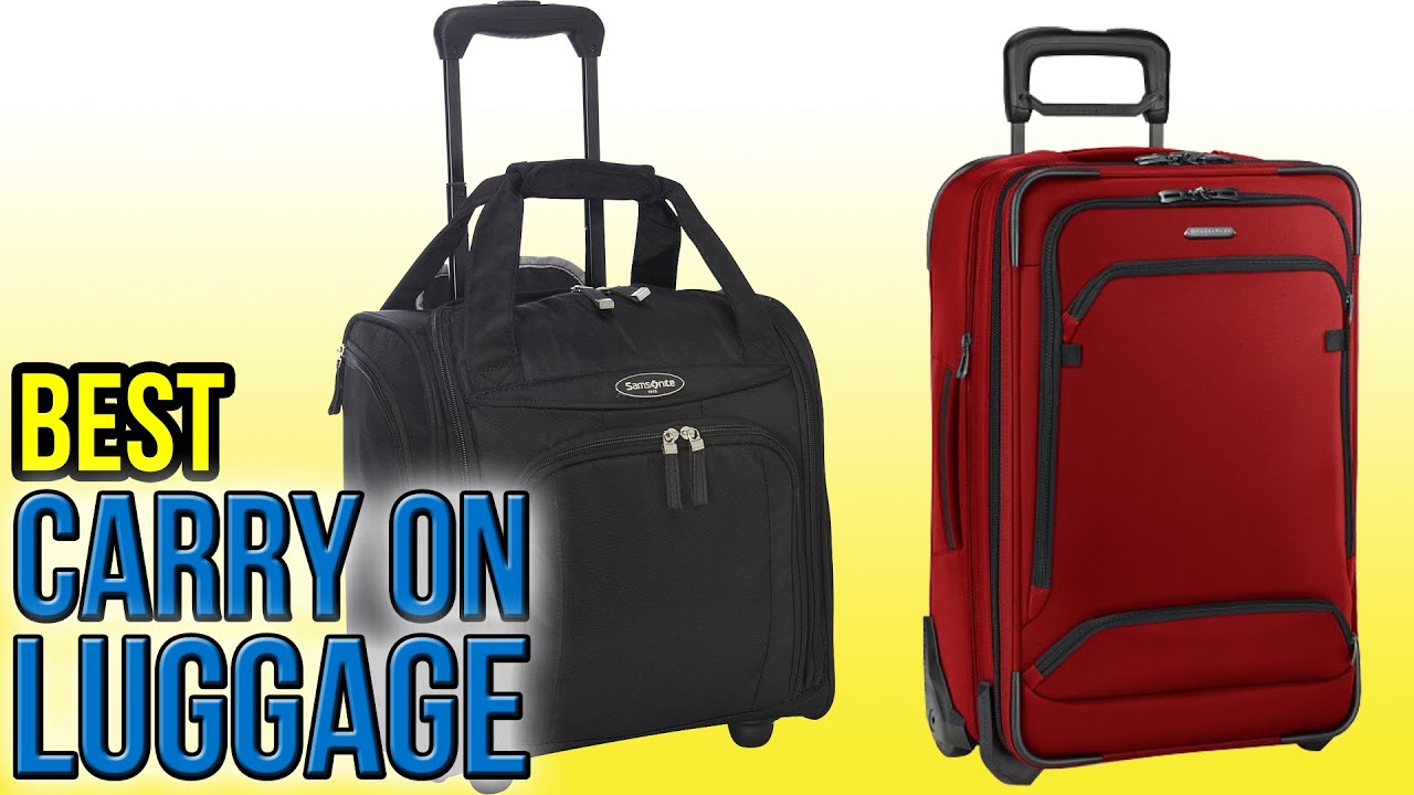10 Best Carry On Luggage 2016 - YouTube