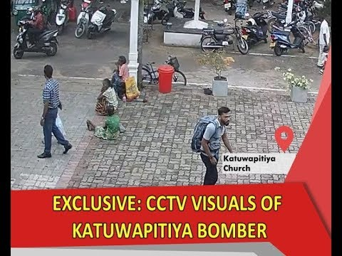 Exclusive: CCTV footage of Katuwapitiya Church bomber