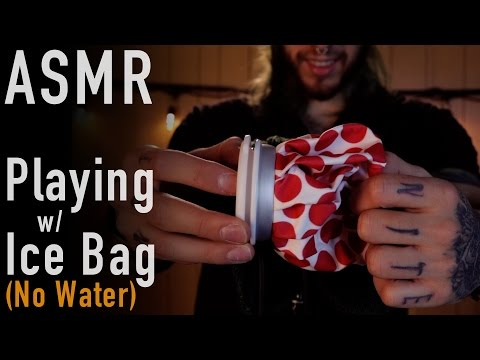 Playing w/ An Empty Ice Bag | Squishy Crinkle Sounds | ASMR |