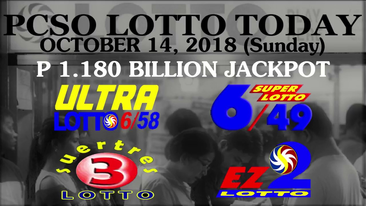 Lotto Result Today, October 14, 2018 (Sunday) - PCSO LOTTO TODAY - YouTube