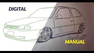 Como Desenhar Carros Fiat Uno Rebaixado Luan Drawings
