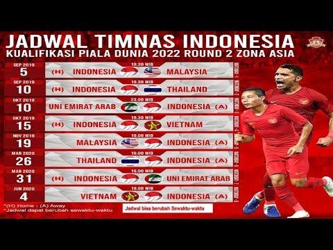 Jadwal Lengkap Timnas Indonesia Di Kualifikasi Piala Dunia 2022 Laga Perdana 5 September 2019 Youtube
