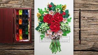 Tutorial Quilling Rose Flowers - DIY