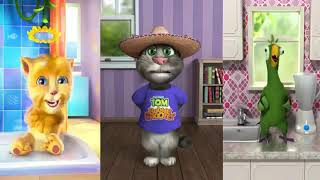 Head Shoulders Knees And Toes Talking Tom And More Compilations For Funny Songs Nursery Rhymes