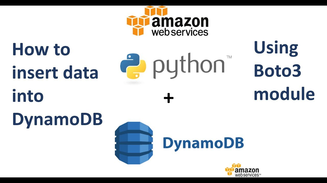 How to Insert Data in DynamoDB using Python and Boto3