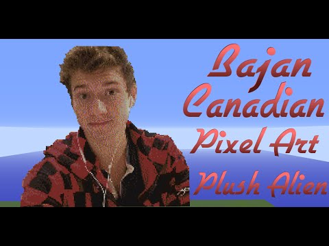 Minecraft Pixel Art SpeedBuild | Bajan Canadian