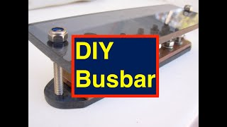 Diy How To Make A Bus Bar